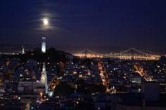 North Beach and Telegraph Hill aglow.