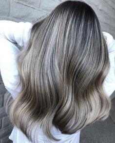Ash Blonde And Silver Balayage For Brunettes