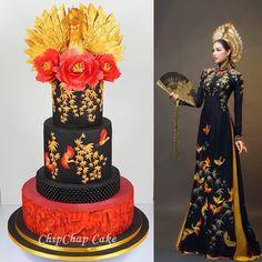 Asia Cake Art with cranes (from fb: Hannover ChipChap Cake) Cake Art, Asia, Victorian, Facebook, Mini, Dresses, Fashion, Vestidos, Moda