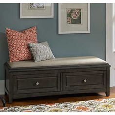 Albright Taupe Storage Bench