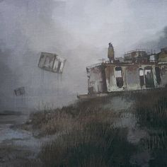 """""""The Last Day For Tomorrow Future"""": Superb Digital Sci-Fi Artworks Of Bryn Jones Roadside Picnic, Comic Conventions, Alien Worlds, Art Competitions, First Art, Painting Tools, Post Apocalyptic, Online Art, Book Art"""