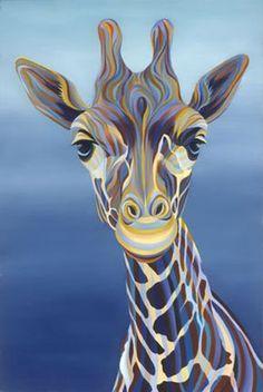Colorful Animal Paintings, Colorful Animals, Zebra Painting, Pencil Drawings Of Animals, Giraffe Art, Silk Art, African Animals, Wildlife Art, Zebras