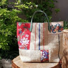 Patchwork Bags, Quilted Bag, Japan Bag, Sacs Tote Bags, Embroidery Bags, Boho Bags, Linen Bag, Fabric Bags, Handmade Bags