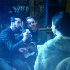 Avi & Josh Kaplan serenading their sister Esther on her wedding day <3