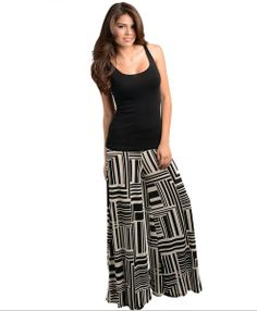 Printed Palazzo Pants, $36 w FREE shipping!These incrediably glamourous palazzo pants are polished enough to wear to the office with a tailored blazer and sassy enough to wear out on the town with a cute little top! SO comfortable too! Made in the USA.  http://shopbrandys.com/collections/bottoms/products/printed-palazzo-pants