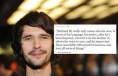 He's a Shakespeare nerd. | 20 Ways Ben Whishaw Will Melt Your Heart