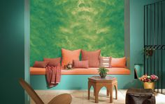 15 Room Designs With Textured Paint Indoor murals painted