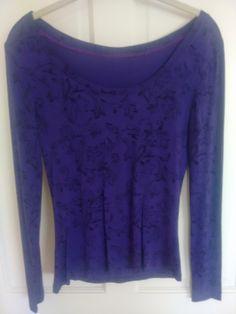Purple long sleeve stretch top