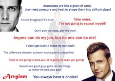 My favourite quotes from Suits! #Suits #SuitsUSA #Harvey #Specter #Donna #Litt #RachelZane #Quotes TVSeries