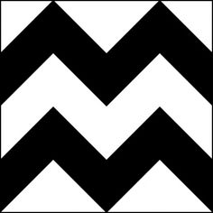 Zigzag - in your face Chevron Patterns, Stencil Patterns, Zig Zag Pattern, Tile Patterns, Black Pattern, Overlays, Baby Flash Cards, Chevron Stencil, Pattern Drawing