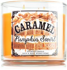 Caramel Pumpkin Swirl 3-Wick Candle - Home Fragrance - Bath & Body Works