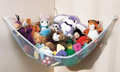 Stuffed animal storage. This is what I need for Jordyn's room. Can't find them to buy, I guess I will have to attempt to make it. The problem is I suck at making things and there is nothing on this website to give instructions. I will keep looking.