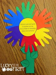 Friendship Flower...students can make, print out big sun in middle with poem...MLK activity