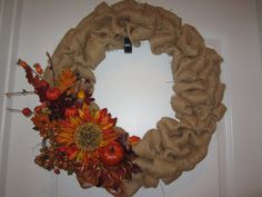 fall burlap wreaths - Google Search