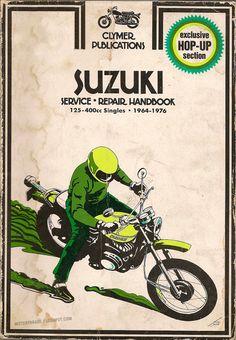 Cool old Clymer manual for Suzuki service repair