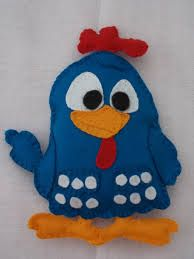 Resultado de imagem para galinha pintadinha em feltro
