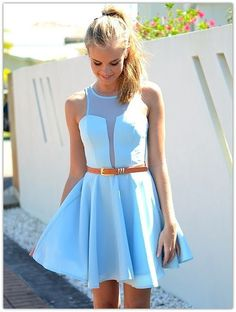 Summer Sky Blue Awesome Dress