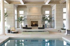 Indoor pool & infinity edge spa