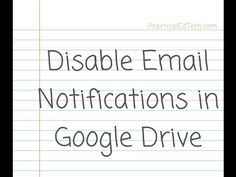 How to Disable Google Drive Email Notifications    Just a few minutes ago I received an email from someone who was considering using Google Drive folders as a temporary replacement for DropItToMe. She was concerned about getting too many email notific   http://feedproxy.google.com/~r/freetech4teachers/cGEY/~3/7MxrxVGxRXo/freetech4teachers.html