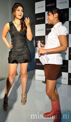 Kareena Kapoor and MissMalini (photo courtesy   Bharti Nair for MissMalini.com)
