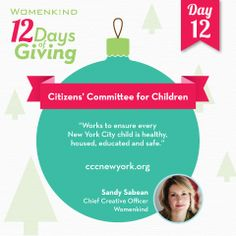 For our final day in #12DaysofGiving, join #CitizensCommitteeforChildren of New York in their mission to make New York a better place to be a child.