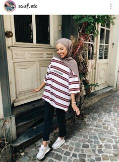 112 hijabs not to be missed this winter – page 1 Hijab Fashion Summer, Modern Hijab Fashion, Street Hijab Fashion, Hijab Fashion Inspiration, Muslim Fashion, Modest Fashion, Fashion Trends, Casual Hijab Outfit, Hijab Chic