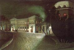 The Eastern Railway Station at Night - Tivadar Csontvary Kosztka - The Athenaeum A4 Poster, Poster Prints, Art Print, Contemporary Artists, Modern Art, Pintura Exterior, Post Impressionism, Vintage Artwork, Victor Hugo