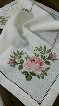Cross stitched tablecloch with wild flowers, table decor, floral doily, hand embroidery multicolor tablecloch Cross Stitch Heart, Cross Stitch Borders, Simple Cross Stitch, Cross Stitch Flowers, Cross Stitch Designs, Cross Stitch Patterns, Loom Patterns, Cross Stitch Embroidery, Cross Stitching