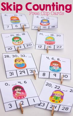 FREE Skip Counting Cards