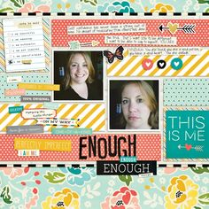 #papercrafting #scrapbook #layouts: Digital Layout by design team member Sara Espy