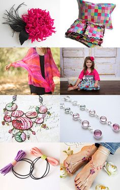 Pretty In Pink by Stephanie Allred on Etsy--Pinned with TreasuryPin.com My 4 photo frame, pretty among all the pinks :)