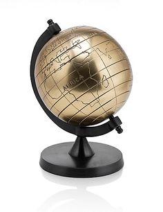 Small Metal Globe | M&S