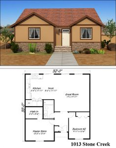 1000 images about single story floor plans on pinterest for Stone creek house plan