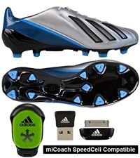 Adidas F50 adizero (Leather) TRX FG Soccer Cleats (Met Silver Black  1baa9420c