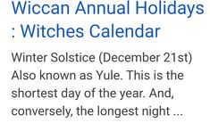 The Longest Night, Days Of The Year, Paganism, Winter Solstice, Yule, Wiccan, Xmas, Christmas