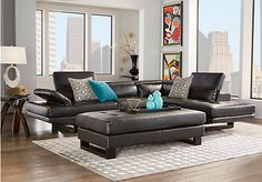 Nagoya Black 2 Pc Sectional x x x Depth. Find affordable Sectional Living Rooms for your home that will complement the rest of your furniture. Rooms To Go Furniture, Leather Living Room Furniture, Apartment Furniture, Furniture Ideas, Sofa Ideas, Furniture Dolly, Furniture Stores, Sofa Design, Sectional Living Room Sets
