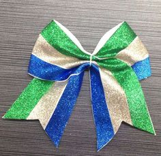 Tree Tones Glitter Leather Hair Bow White Grosgrain Ribbon Base!---Chengna Hair Accessories