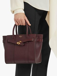 BuyMulberry Mini Bayswater Zipped Grain Veg Tanned Leather Tote Bag 2572d00c58fdc