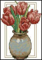 Tulips Counted Cross Stitch Pattern