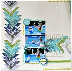 Amy Heller shares how she created the arrow shapes for this layout