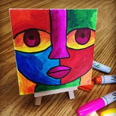 Color Mixing with Sharpies. Try them on mini canvases and you might get addicted. #Sharpie