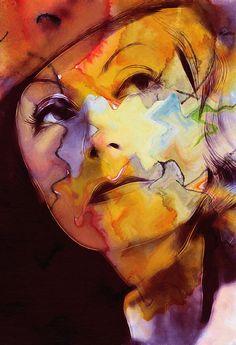 Facets of Beauty Painting - Facets of Beauty Fine Art Print - Stefan Kuhn