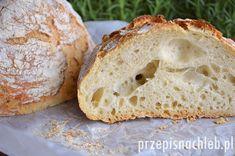 Chleb bez zagniatania. Zdecydowanie najprostszy przepis na stronie na jasny chleb pszenny, który nie wymaga zagniatania. Vegan Recipes, Cooking Recipes, Gluten, Baking, Health, Breads, Health Care, Vegane Rezepte, Bakken