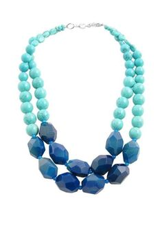 Blue agate and turquoise howlite necklace by Barse Jewelry