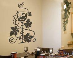 Sticker mural Cuisine : Sticker verre de vin design 2 : Décorations murales par decofrance59