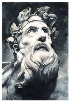 Greek Mythology Tattoos, Greek Mythology Art, Roman Sculpture, Sculpture Art, Orion Tattoo, Hades Tattoo, Greek God Tattoo, Gravure Illustration, Ancient Greek Sculpture