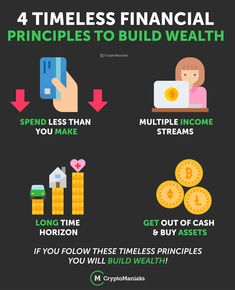 4 Timeless Financial principles to build wealth.  Spend less than you make:   Multiple income streams:  Long time Horizon:  Get out of cash & Buy assets: Multiple Streams Of Income, Income Streams, Getting Out, Blockchain, Wealth, Posts, Education, How To Make, Stuff To Buy
