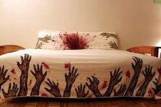 when we were little, my sister told me never to let any part of your body hang off the bed.  the monsters live under there and they will get you.