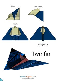 Twinfin Airplane Origami Paper Activities