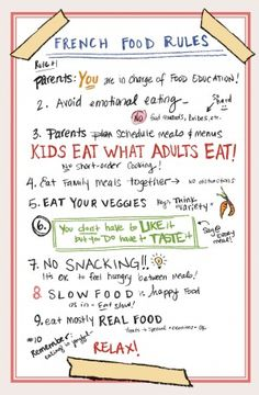 The top 10 French food rules you can steal to cure your picky eaters.